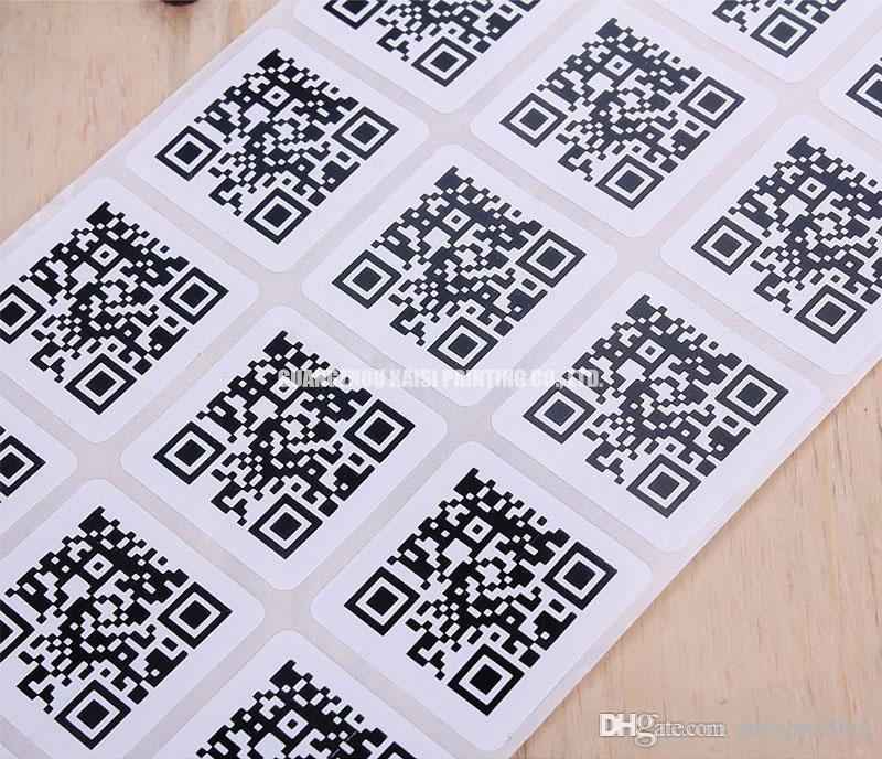 2018 custom qr code labels gloss paper 2 d two dimensional barcode stickers printing high quality bar codes labels stickers for products from gzksprinting