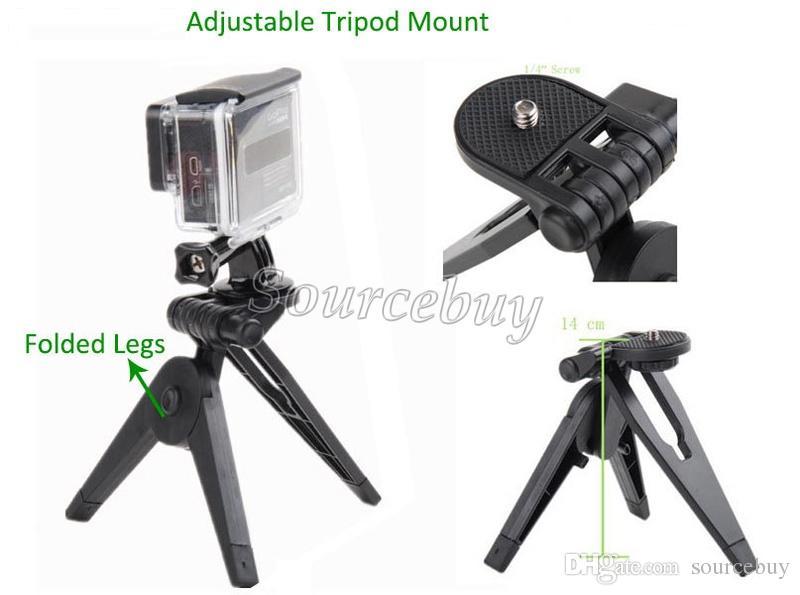 Экшн-камера GoPro Комплект аксессуаров Go pro Дистанционный ремешок на запястье 13-в-1 Дорожный набор Аксессуары + противоударный чехол для переноски спортивная камера Hero 3 4