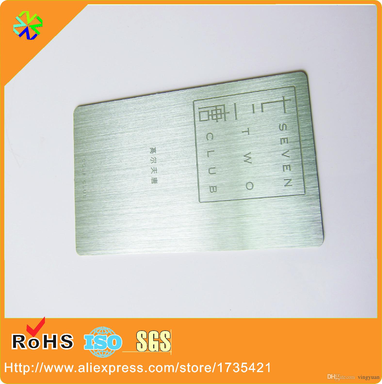 Acheter Usine De La Chine Directement Approvisionnement Pas Cher Personnalise Laser Blanc Coupe Carte Metallique Nom En Metal Visite