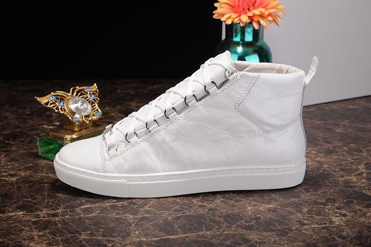 Designer Chaussures En Gros De Haute Qualité Arena Chaussures High Top Ridée En Cuir Couleurs Mélangées Mode Rouge Noir Blanc Homme Casual Sneaker