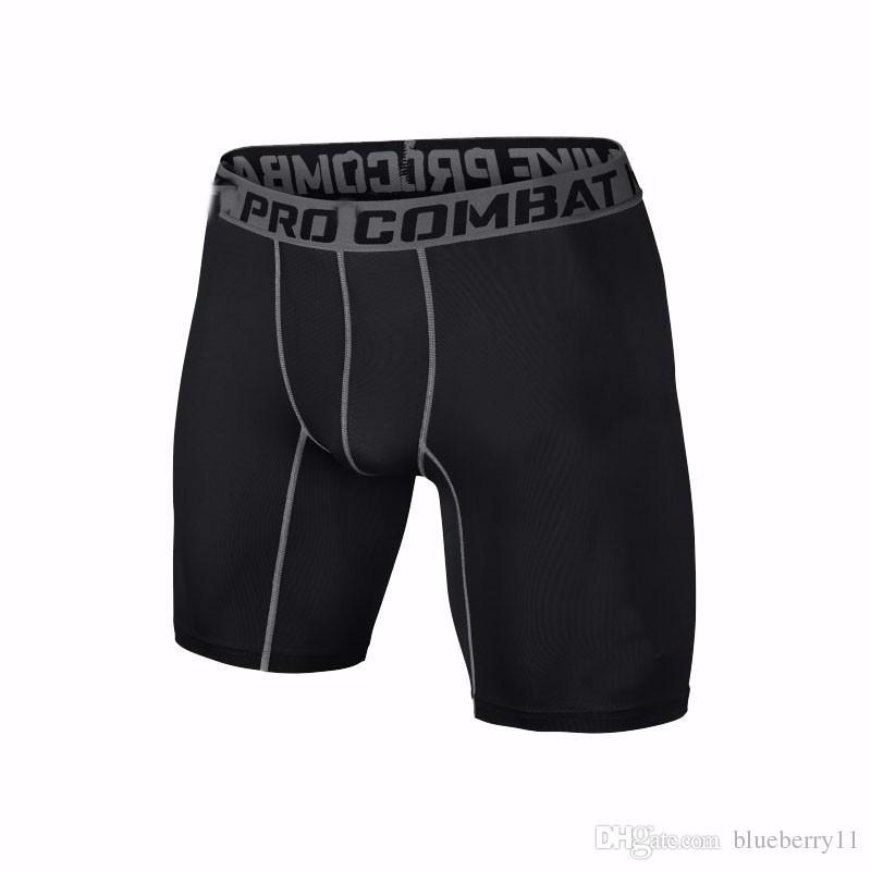 Großhandels-Sport Gym Shorts schwarz Kurze Männer Laufen Kompression Shorts Jogginghose Bodybuilding Kampf Trocken Training Leggings Männer kurze Hosen
