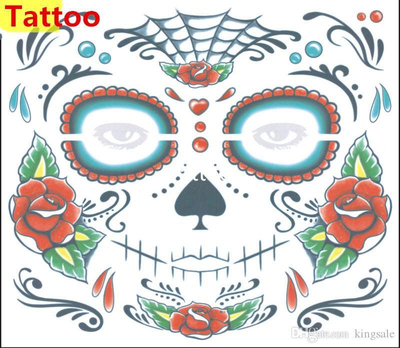 HOT Halloween Supplies Christmas Party waterproof faced tattoo and masquerade ball must sticker Novelty & Gag Toys DHL free