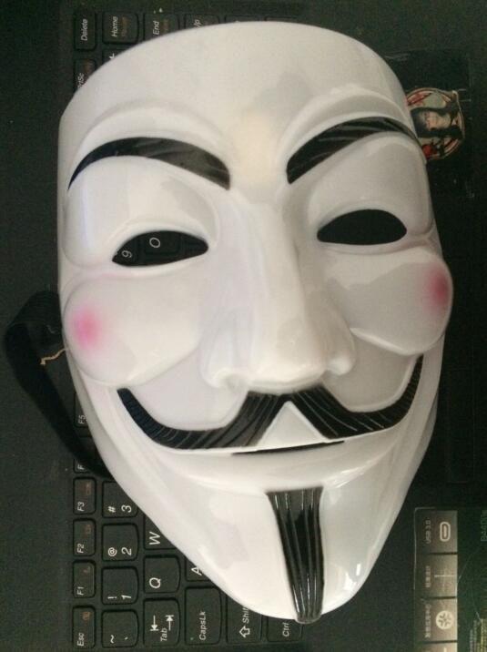 for CPAM V vendetta team guy fawkes masquerade Halloween carnival Mask 40g,light yellow