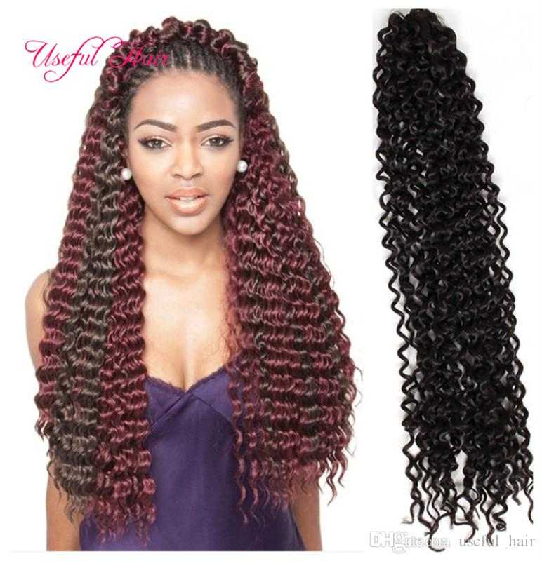 Wholesale 18inch freetress hair water wave blonde extensions black wholesale 18inch freetress hair water wave blonde extensions blackbrown bulk crochet latch hook braiding hair synthetic crochet hair extensions bulk hair ccuart Gallery