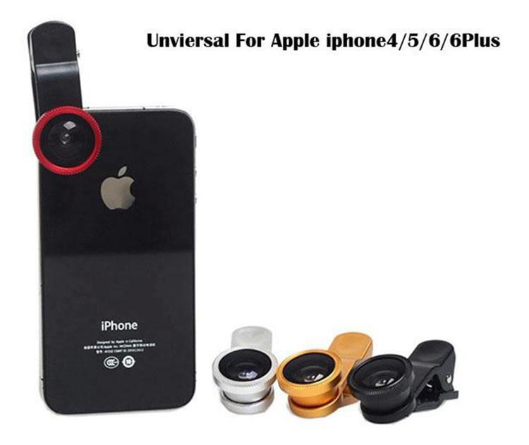 3 в 1 Универсальный клип рыбий глаз широкоугольный макро-телефон рыбий глаз стеклянный объектив камеры для iPhone Samsung дешевая цена + лучшее качество