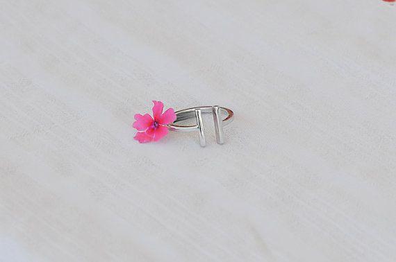 -R004 Tiny Double Barren Ring Einfache offene Vierkant Bar Ringe Einstellbare Rechteck Stick Ringe Moderne Minimalistische Ringe für Frauen