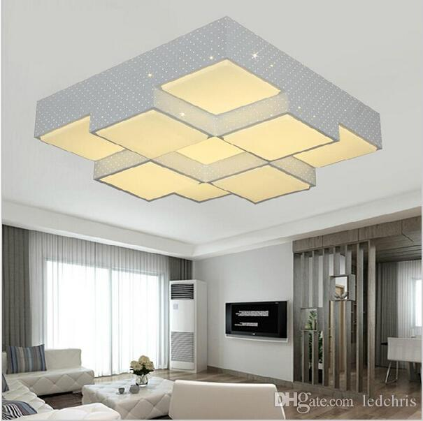 Super Bright Dimmable Cube Modern Ceiling Lights Heads For - Bright ceiling light for bedroom