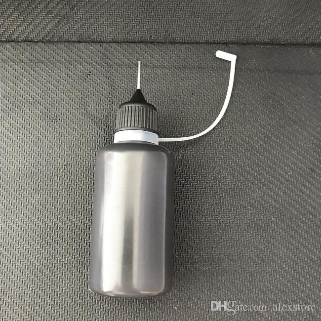30ml botella de líquido de color negro aguja E vacía 30 ml botellas de plástico PE suave de goteo para aceite de jugo Vape Ejuice PK unicornio