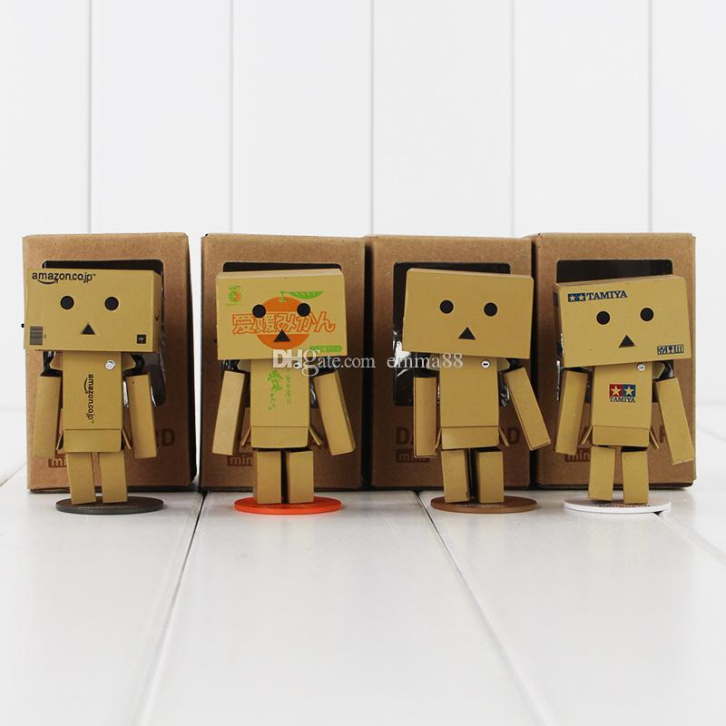 8cm Cute Danboard with Light PVC Action Figure Collectable Model Toy for kids gift free shipping retail