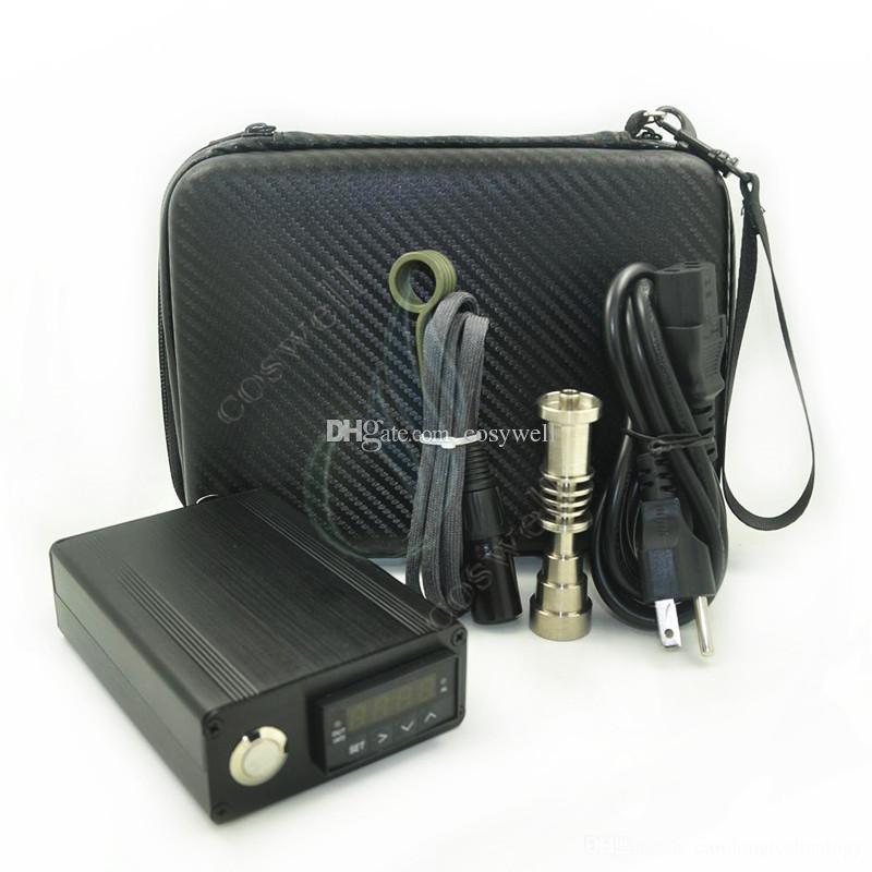Mini electric Titanium Dab nail universal DNail set for 10 16 20mm female glass water pipe bong 6in1 bongs ecigs Rig vaporizer DHL