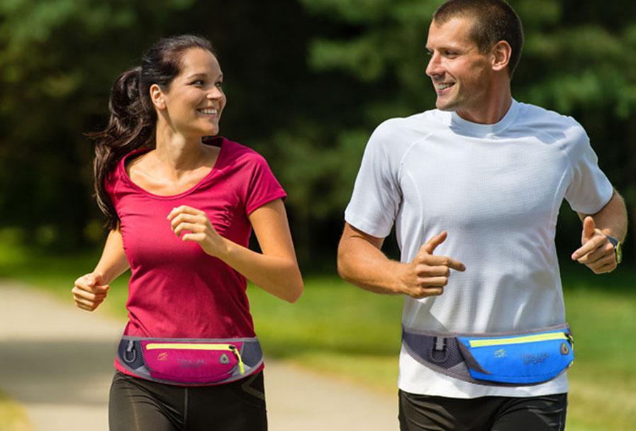 Unisex Running Jogging Waist Belt Bag Sport Outdoor Packs Pocket for Music With Headset Hole For Iphone SAMSUNG, Sports Bags Waistpacks
