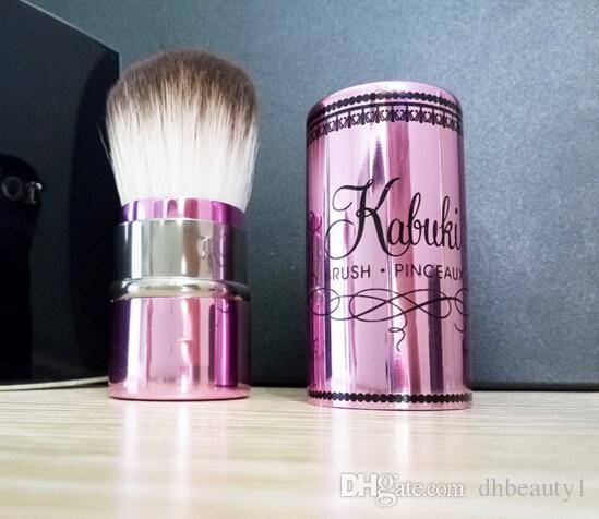 Kabuki ile Geri Çekilebilir Pinceau Esnek Fırça Kozmetik Vakfı Fırça Süper Yumuşak Saçlı Koruyucu Kapaklı