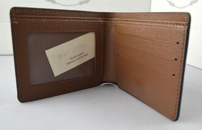 Livraison gratuite célèbre porte-monnaie en cuir de marque de concepteur, porte-monnaie et porte-monnaie classique