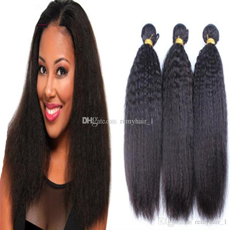 8a Best Mongolian Afro Kinky Straight Hair Weave Yaki Straight Human