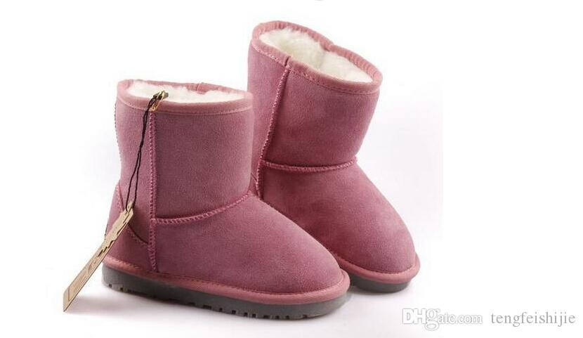 Heißer Verkauf New Real Australia Hochwertige Kind Jungen Mädchen Kinder Baby warme Schneeschuhe Jugendliche Studenten Schnee Winter Stiefel Freies Verschiffen