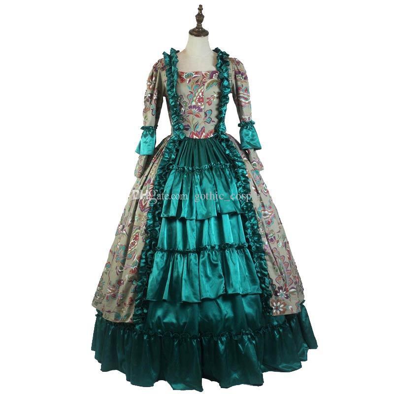 f7170975e3a Acheter Médiévale Princesse Mascarade Robe Gothique Victorien Royal Femmes Robe  Verte Sud Belle Robe De Bal Costume De Théâtre De  110.56 Du Gothic cosplay  ...