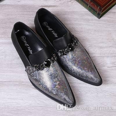 개인 혼합 된 색상 남성 레저 가죽 신발 패션 디자이너 라운드 발가락 미끄럼 보트 신발에 대 한 남자 파티 결혼식 신발