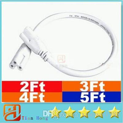 1ft 2ft 3ft 4ft 5ft Câble pour T5 T8 intégré à LED lumières tubes rallonge conduit connecteur CCC