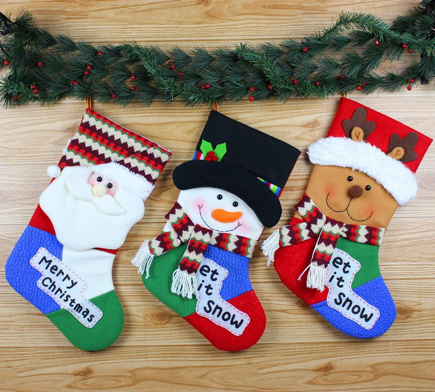 christmas cloth art adornment christmas decorations santa socks christmas snowman cloth socks handicrafts decoration ornaments decoration xmas from winwood