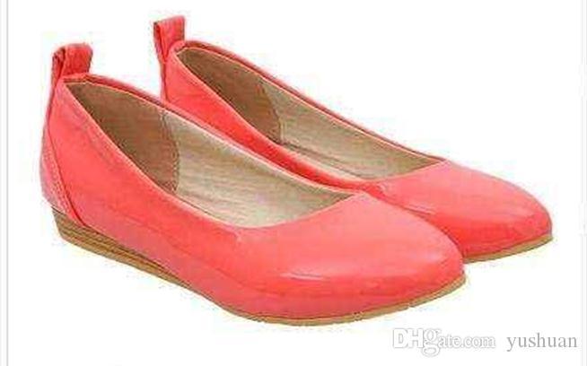 2016 sapatos com couro pontudo com baixa inclinação solteira senhoras sapatos retro outono sapatos