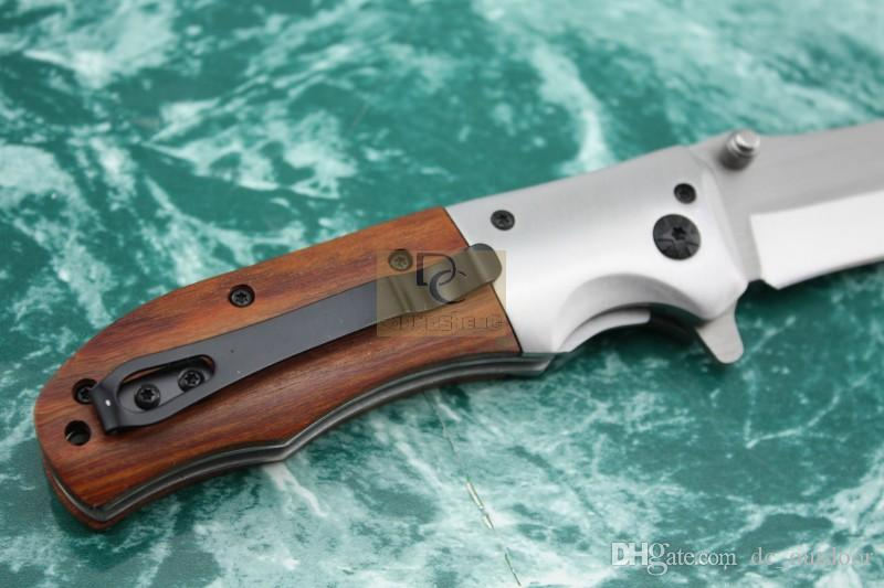 Neue Browning DA51 Tasche Klappmesser Holzgriff 56HRC 5Cr13 Klinge Taktische Überlebensmesser EDC Camping Werkzeuge
