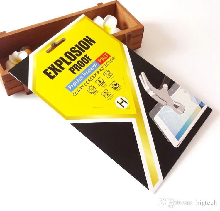 Universal Custom Colorful Ipad Tempered Class Packaging Box foriPad mini/iPad 2 3 4 8 inch 10 inch Screen Protector Film