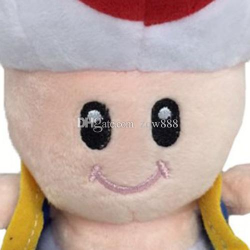 """6.5"""" 17cm Super Mario Bros Toad Plush Dolls Stuffed Toy Animals For Baby Gifts"""