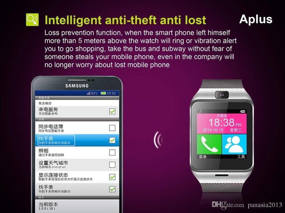 GEAR2 GV18 NFC Aplus Smart Watch Mit Touchscreen Kamera Bluetooth NFC SIM GSM Anruf U8 Daten synchronisieren Wasserdicht für Android Phone