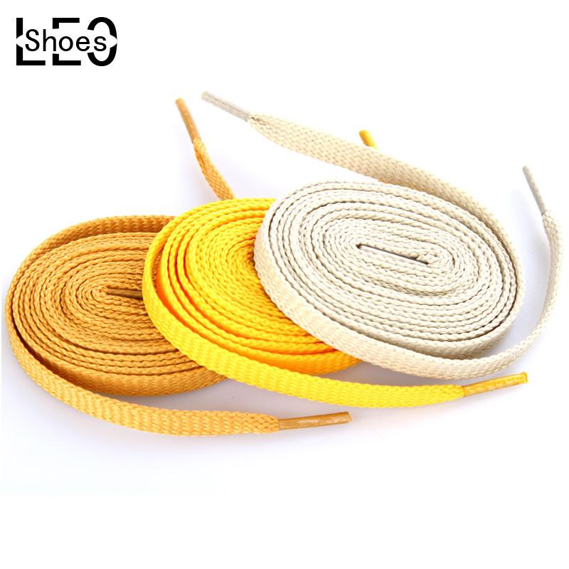 eb4c9e2adb009b 2019 Wholesale Flat Coloured Shoe Laces Bootlaces Trainers Skate Strong  Shoelaces Shoelaces Strings 10 Style Color Length 145cm From Beasy111