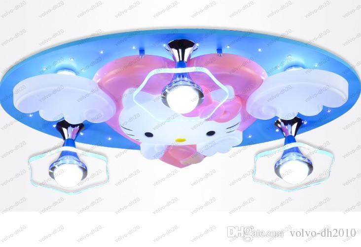 Kronleuchter Engel Katzen Kinderzimmer Beleuchtung E27 Cartoon ...