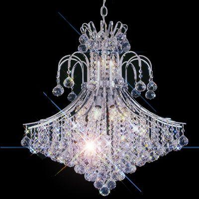 Swarovski Crystal Pecaso Contour 11 Light Chandelier Gold Plated ...