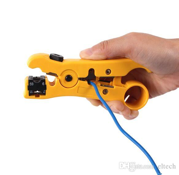 Automatic Cable Wire Stripper Electric Stripping Tools for UTP/STP RG59 RG6 RG7 RG11 Multi-functional Cutter Striper