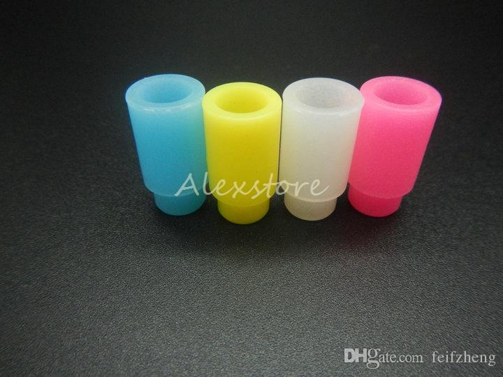 Silicone Mouthpiece Cover Rubber Drip Tip Silicon Disposable Universal Test Tips Cap Individually Package For 510 thread atomizer vapor ecig