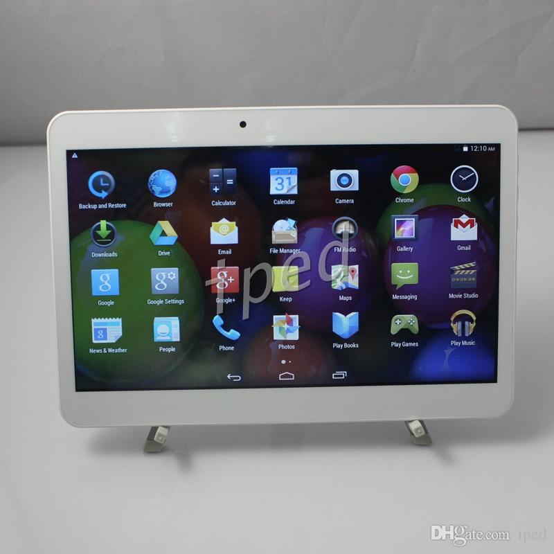 10 10,1-дюймовый MTK6572 3G Android 4.4 Телефон Планшетный ПК 8 ГБ Bluetooth GPS 1024 * 600 Фаблет Двойная SIM-карта разблокирована шоу MTK6582 Четырехъядерный процессор 32 ГБ дешево