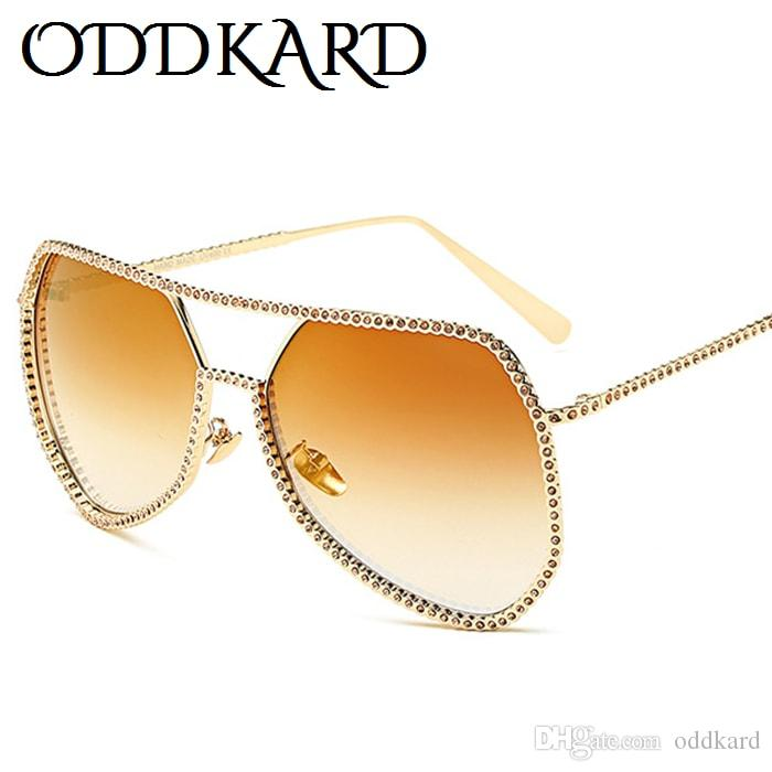 e5e448c3c989f ODDKARD Elegant High Fashion Crystal Diamond Sunglasses For Men And Women  Luxury Brand Designer Pilot Sun Glasses Oculos De Sol UV400 Men Sunglasses  Women ...