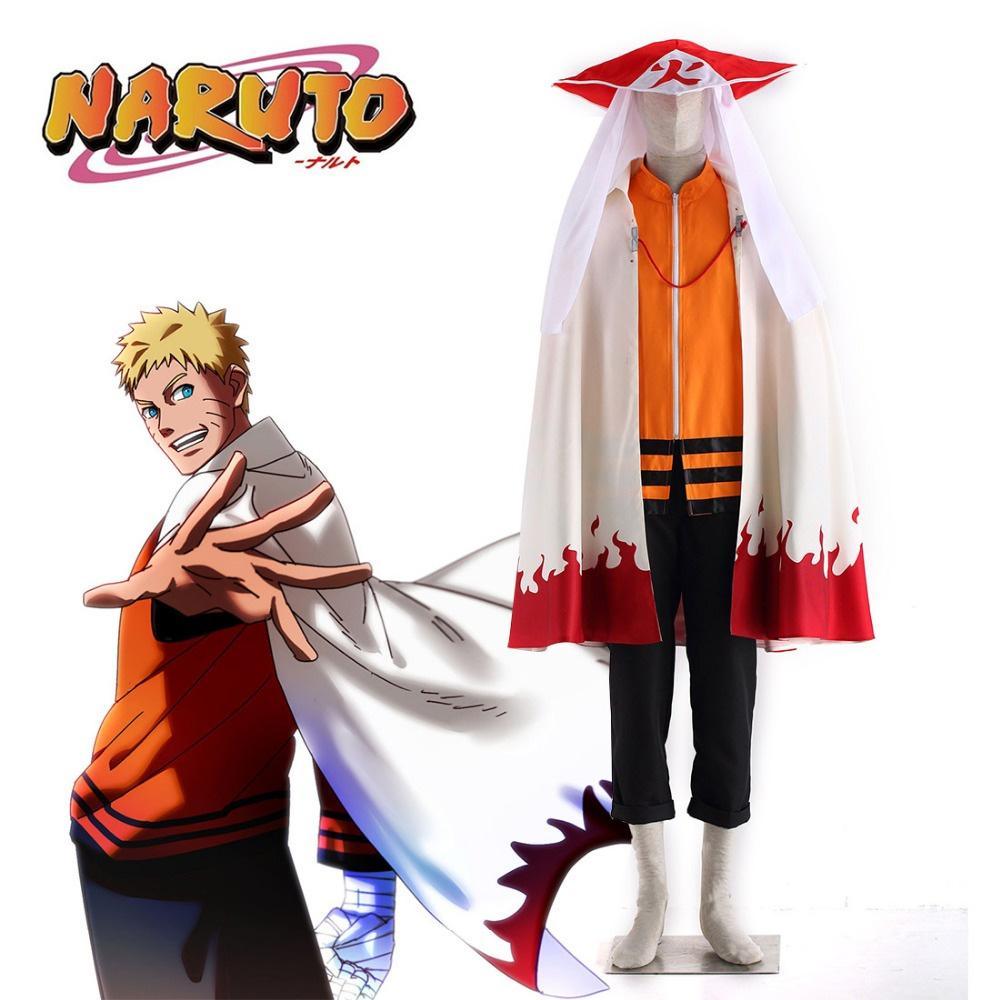 Compre Hot Anime Naruto EL ÚLTIMO Traje De Cosplay De Uzumaki Naruto Del  Séptimo Hokage Con Capa Y Traje De Cosplay Del Sombrero De Hokage A  68.52  Del ... 93055a4ee1d