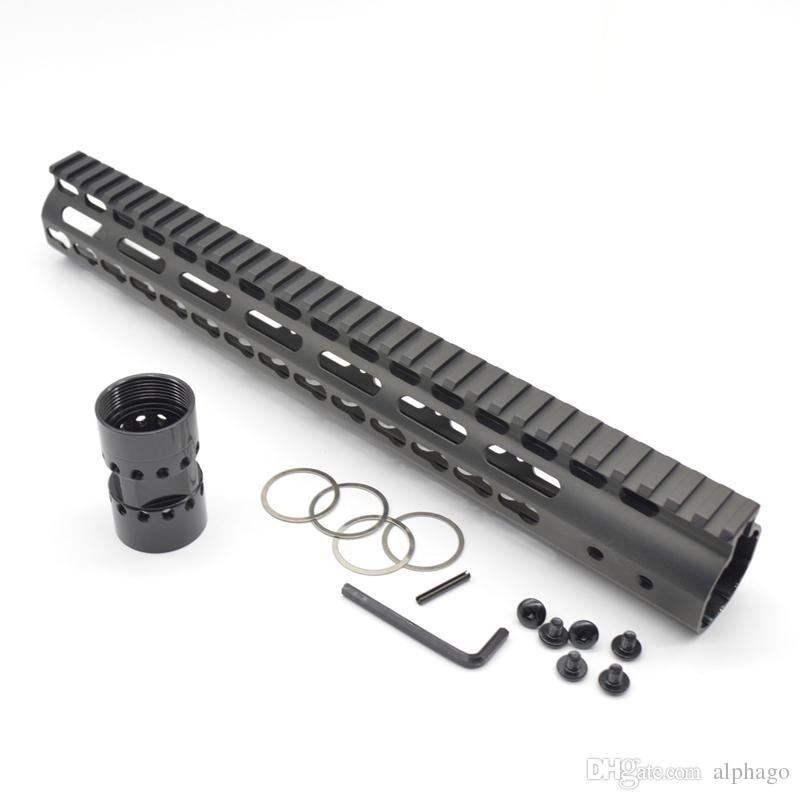 New Ultralight NSR 13.5 Inch Free Float Key Mod Handguard Rail Top+ QD Sling Swievl Steel Barrel Nut
