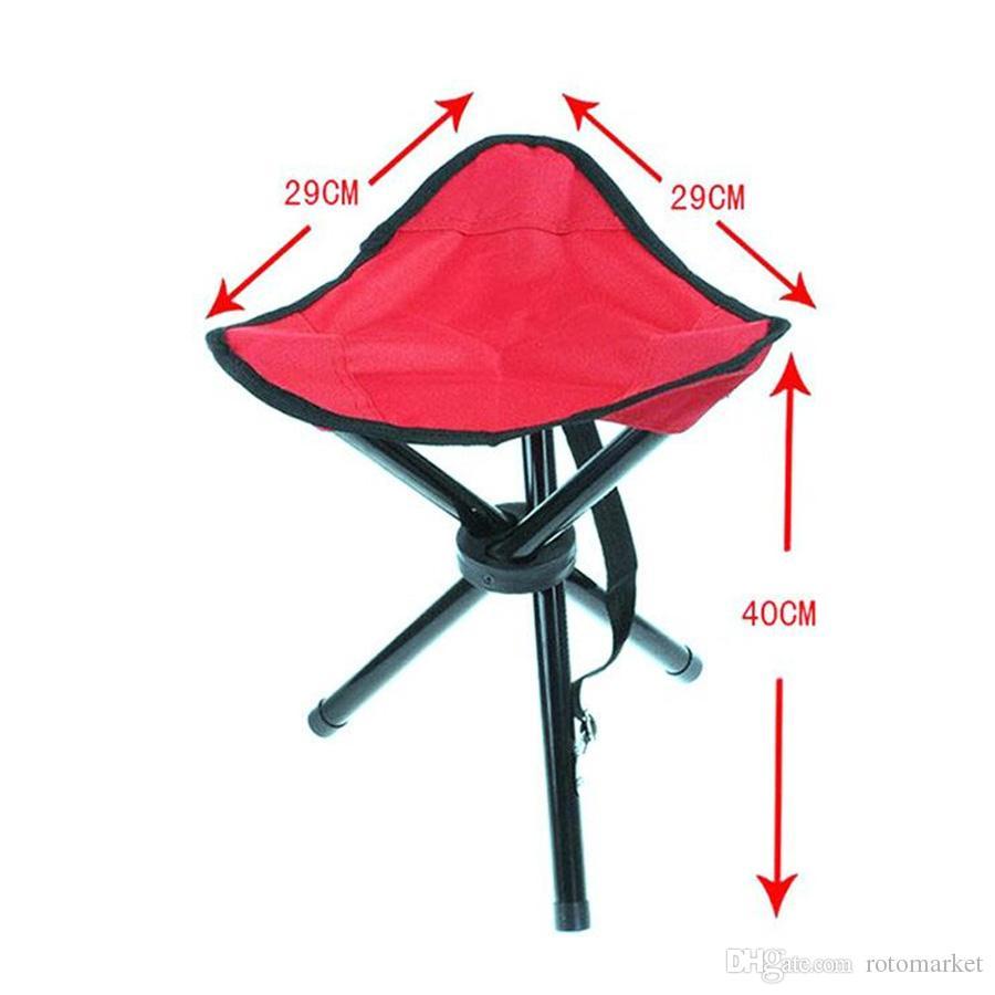 Outdoor Tragbare Leichte Camping Wandern Angeln Klapp Picknick Garten BBQ Hocker Stativ Drei Fuß Stuhl Sitz