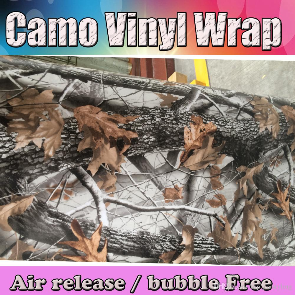 hot! Realtree Camo Vinyl wrap real tree leaf camouflage Mossy Oak Car wrap Film foil for Vehicle skin styling covering stickers