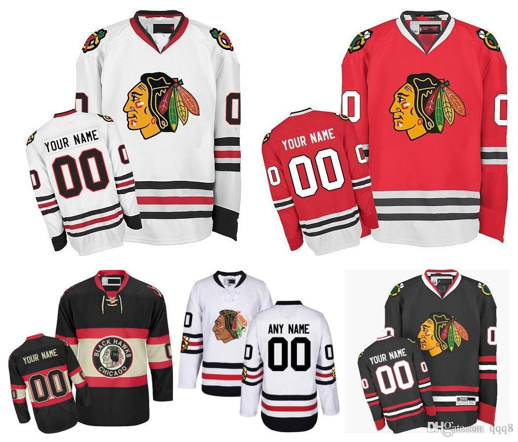 caf3bbca7 ... customized men chicago blackhawks jerseys custom stitched any name any  number ice hockey jerseyauthentic jersey embroidery