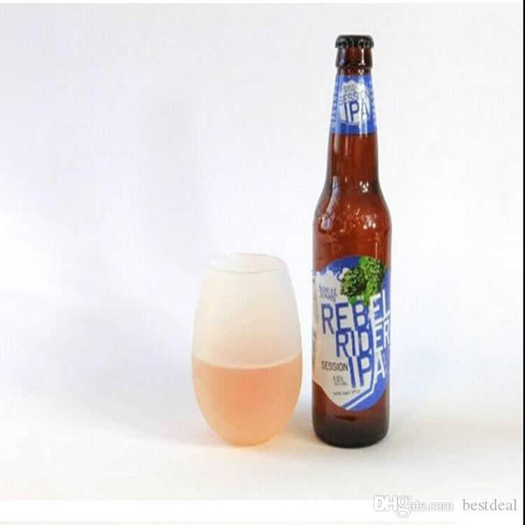 Silicone Copos de Vinho De Cerveja Copo de Vinho de Silicone Dobrável Unbreakable Dobrável Stemless Beer Whisky Copo Drinkware para Camping