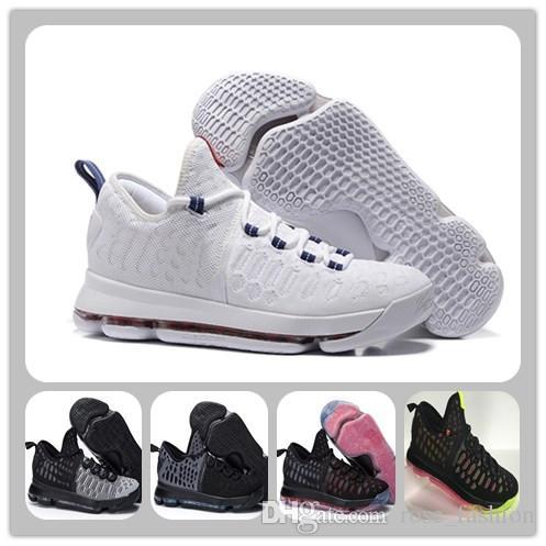 new style 11000 a25d1 Acheter Kevin Durant Chaussures De Basket KD 9 USA OLYMPIC Blanc /  Universitaire Rouge / Bleu Chaussures De Sport PREMIERE KD VIIII 9 De  $79.95 Du ...