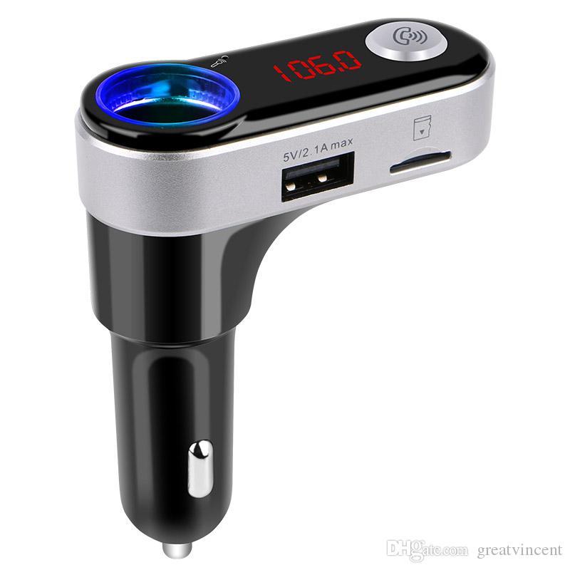 Al por mayor-BC09B Car MP3 Audio Player 3.0 Bluetooth FM Transmisor FM inalámbrico Modulator Car Kit usb player doble cargador USB DHL gratuito