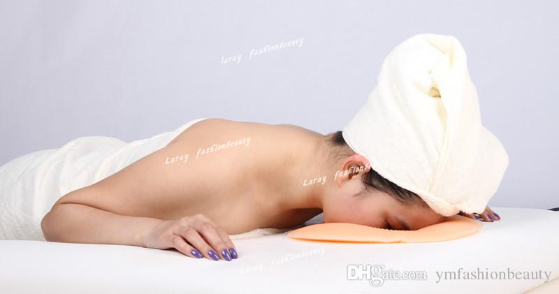 Orange Soft Silicon Massage Face Relax Cradle Cushion Pillow Pad SPA Beauty Device for Salon or Home Care