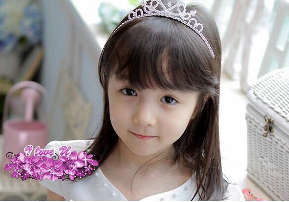 Argent Princesse Bande De Cheveux Diadème Strass Bandeau Pour Enfants Fille Enfants enfants bijoux exquise brillante strass couronne coiffe