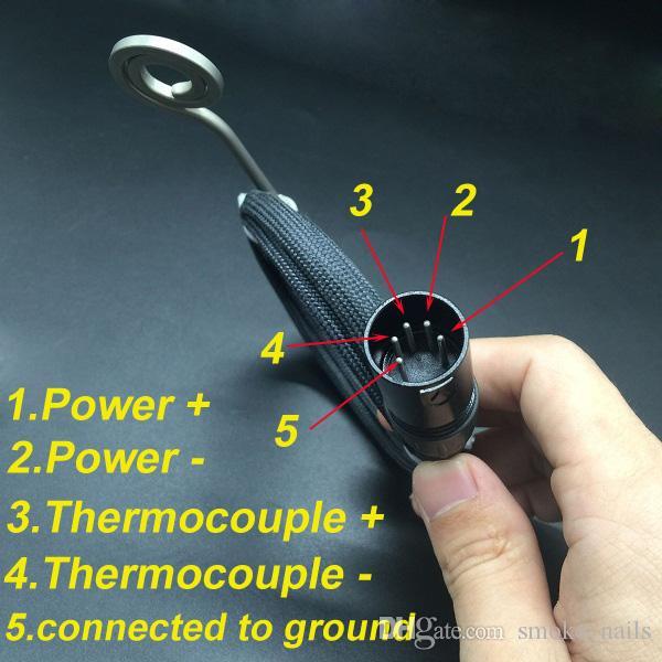 Dhl-freies spätestes upgrade 10mm / 14mm / 18mm justierbarer dab nagel titanium / quarz hybrid nagel fit flache 10mm / 16mm / 20mm coil heater auf lager