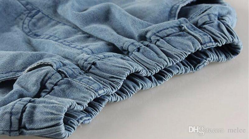 Ins дети разорванные джинсовые джинсы брюки шорты мода джинсовые детские одежда детские мальчики девочек джинсы для детей бренд стройные повседневные брюки