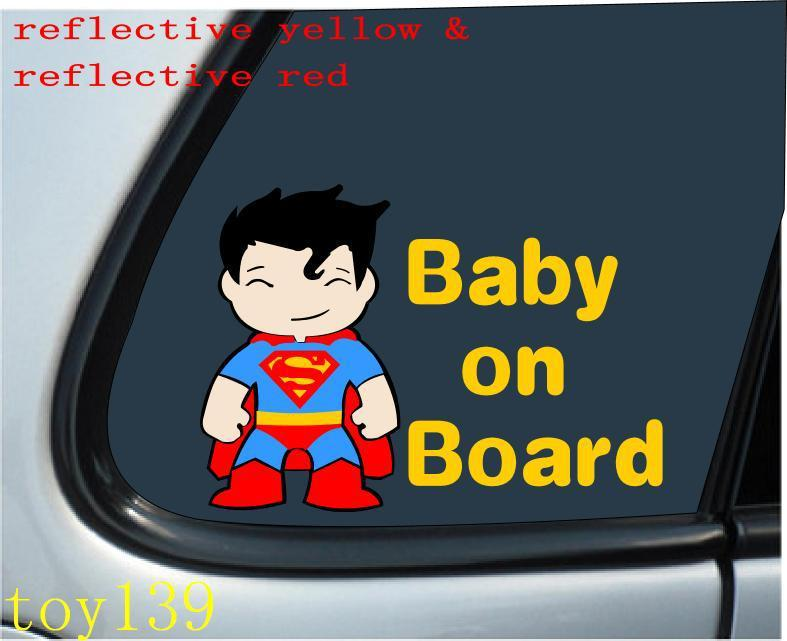 2018 baby superman baby on board vinyl car window funny kid decal stickers sticker decals vinyl car window funny decal sticker decal from mysticker