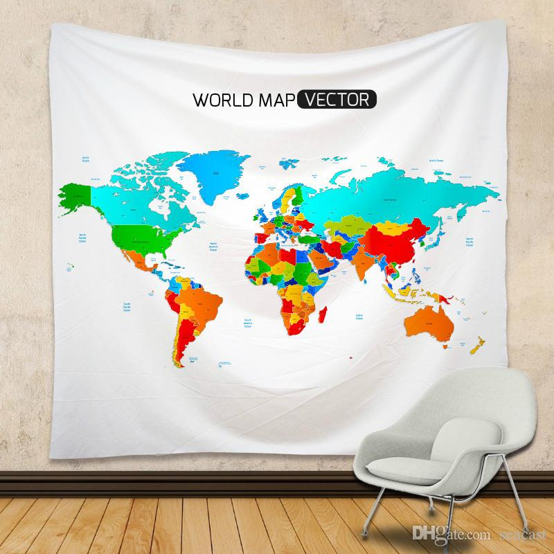 150210 cm world map tapestry hippie throw yoga mat towel united 150210 cm world map tapestry hippie throw yoga mat towel united states spain map polyester beach shawl bath towel tapestries sale tapestries to buy from gumiabroncs Gallery