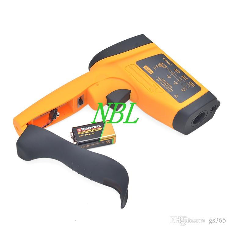 New Arrival Laser Temperature Gun Digital Infrared Thermometer GM1651 Non-contact Thermoeter Tester Range -30~1650 Degree With USB Interface